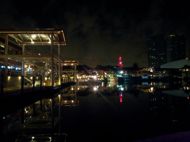 view from bayside, miami at night