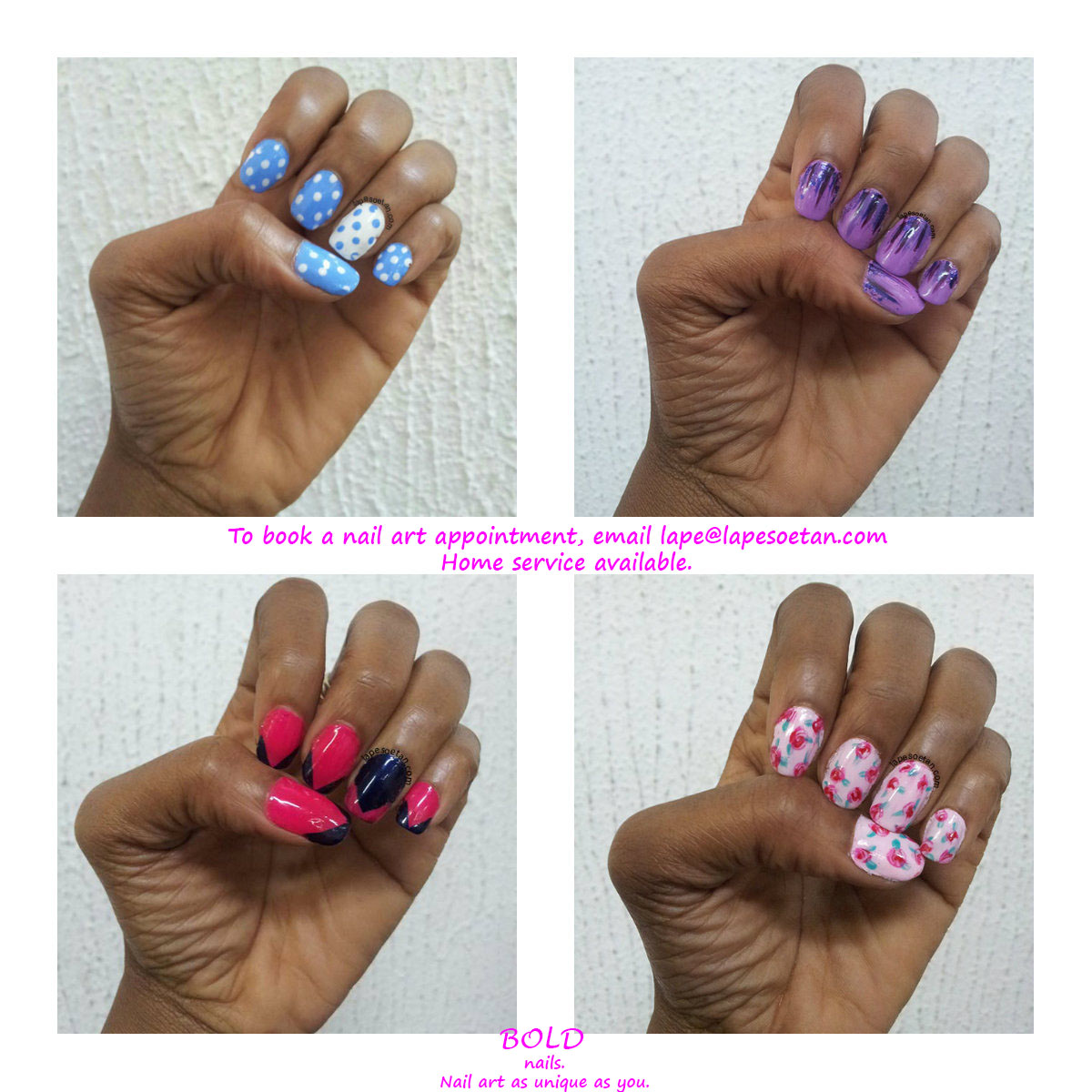 Where to get nail art done in Lagos - Lape Soetan