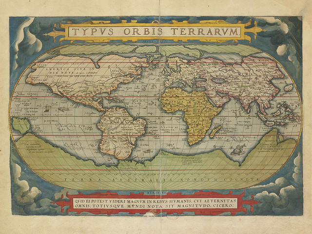 round the world map