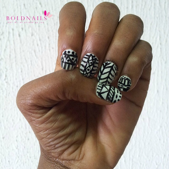 tribal nail art boldnails.com