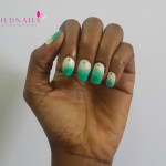 Nail art:  2014 Nigerian independence nails
