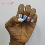 Nail Art:  Blue Fusion