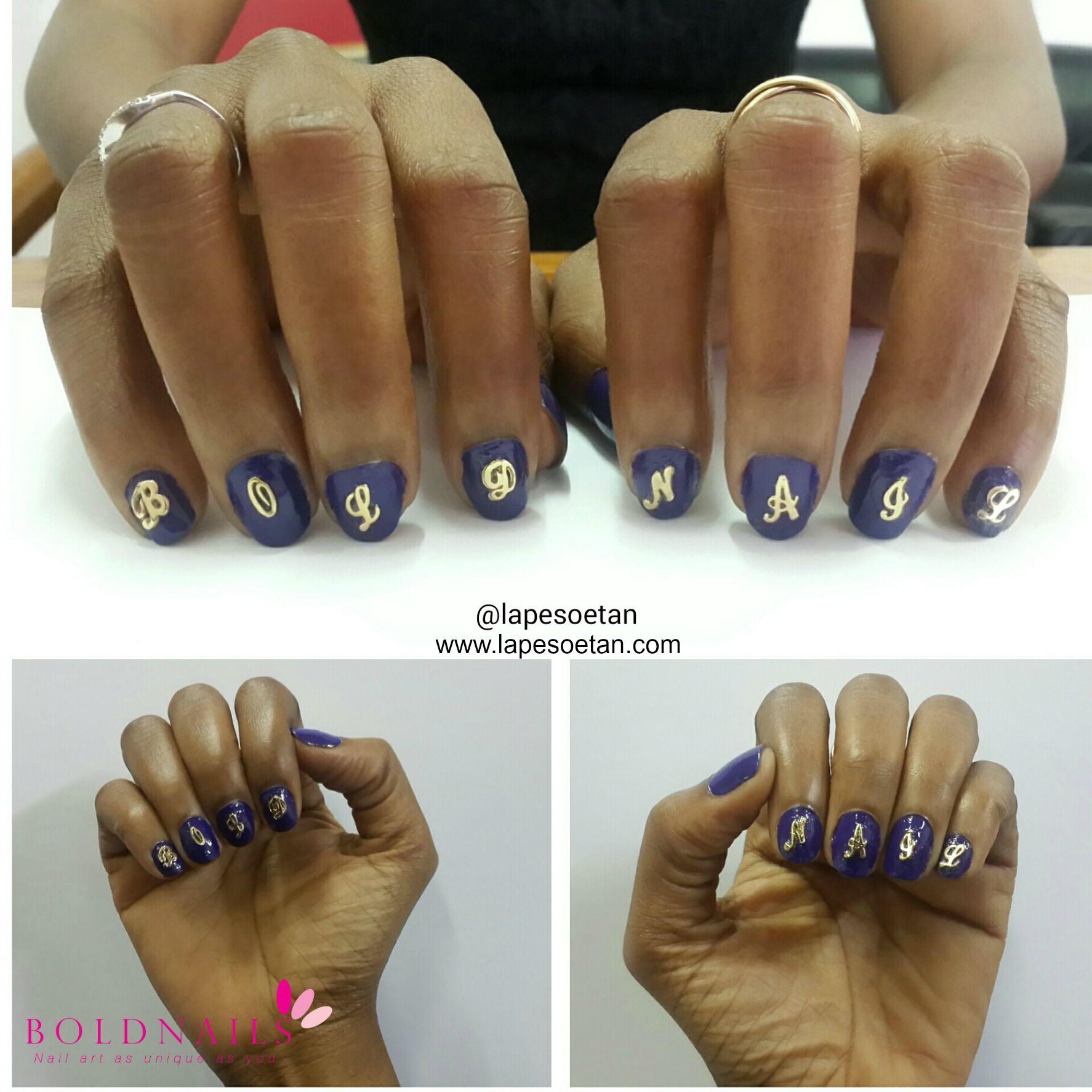 Nail Art Bold Nails Lape Soetan