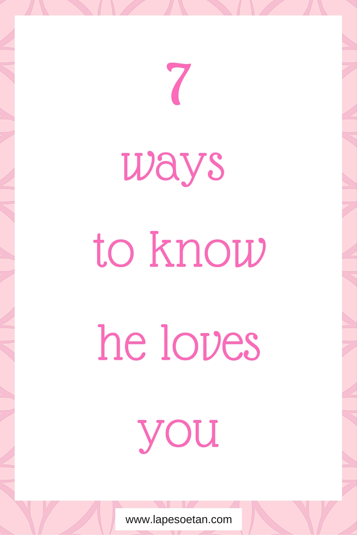 How To Know He Loves You