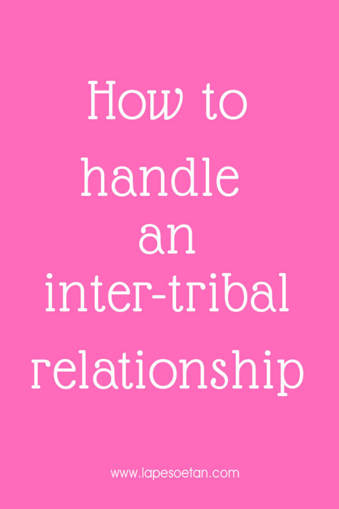 how to handle an inter-tribal relationship
