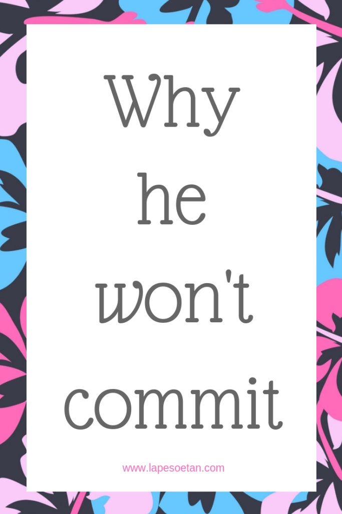 Why he won't commit www.lapesoetan.com
