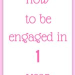 How to be engaged in 1 year